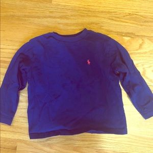 Royal blue long sleeve T boys 3T